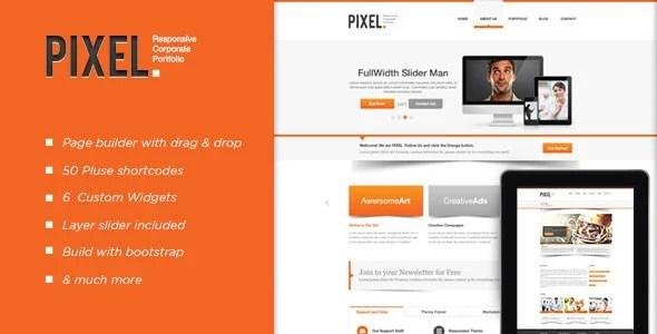 Pixel Responsive WordPress Theme