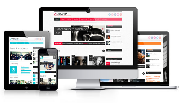 View:r Visitor/Author Review Responsive Magazine Theme