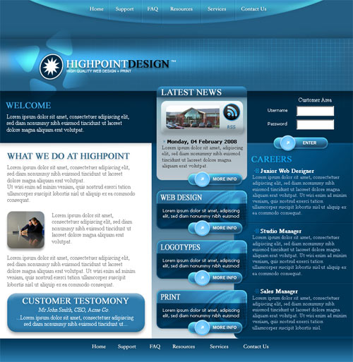 Business Website Template no.1
