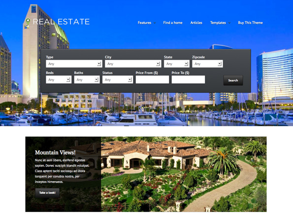WP Pro Real Estate 4 Responsive WordPress Theme