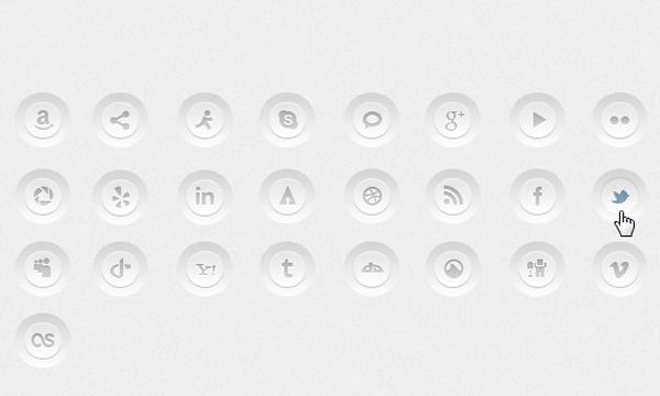 social media buttons css css3 designs