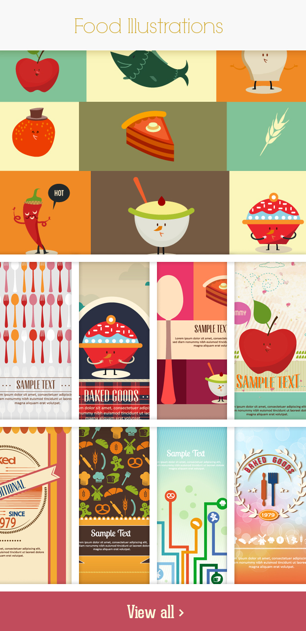 food small Deal of the Week: 600+ Top Quality Vector Illustrations – Only $49
