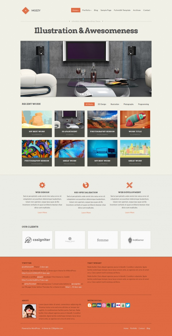 10+ Best Creative WordPress Themes June 2014 - Pixel2Pixel