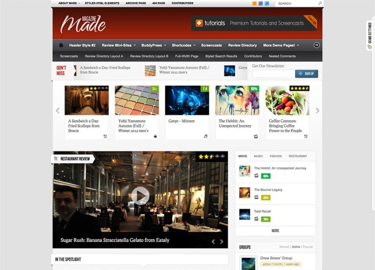 Made - WordPress Review Themes