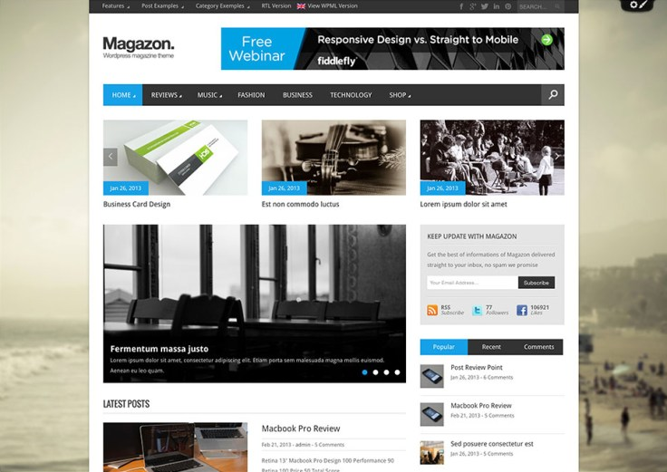 Magzo - WordPress Review Themes