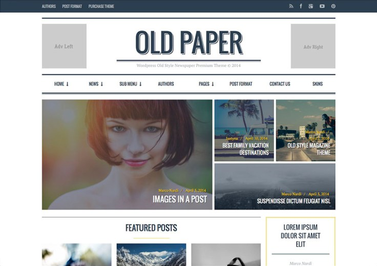 Oldpaper - WordPress Review Themes