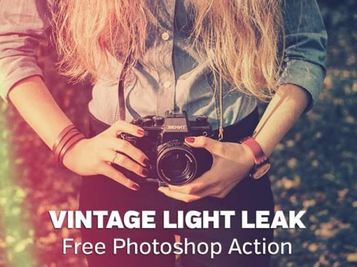 Vintage Light Leak Photoshop Action