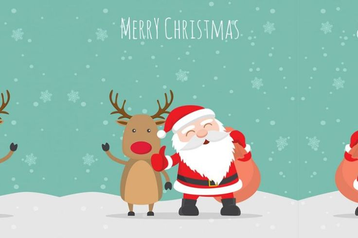 Merry christmas illustration Vector free holidays