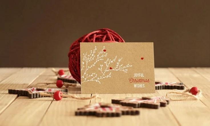 Real Photo Invitation or Greeting Card Mockup free holidays