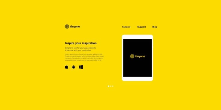 Tinyone One Page Template PSD