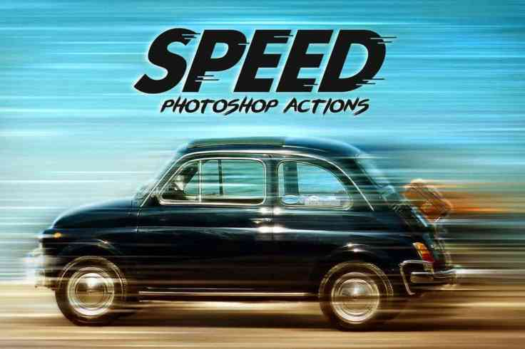 Speed - Photoshop Actions