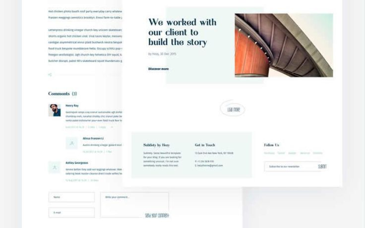 Subtlety – Light & Minimal Blog Responsive Web Design PSD Template