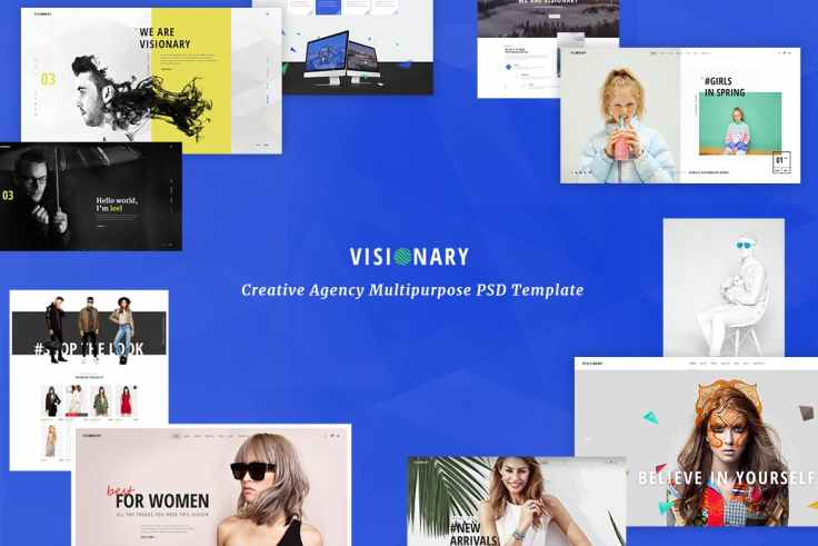 Visionary - Creative Agency PSD Template