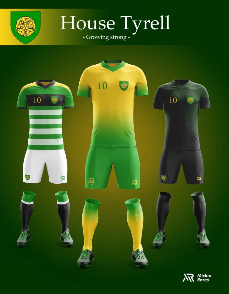 House Tyrell Football Kit