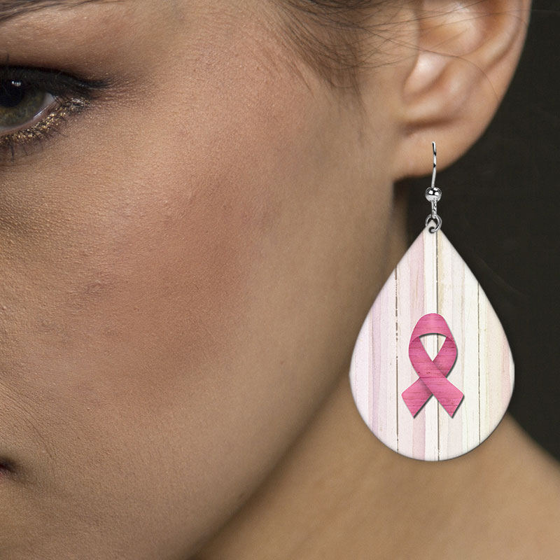 Breast Cancer Awareness Earrings ALT View