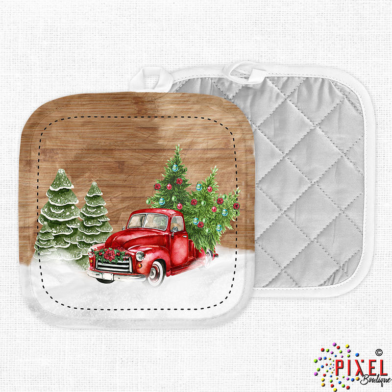 Christmas-Red-Truck-Potholders-Front-and-Back