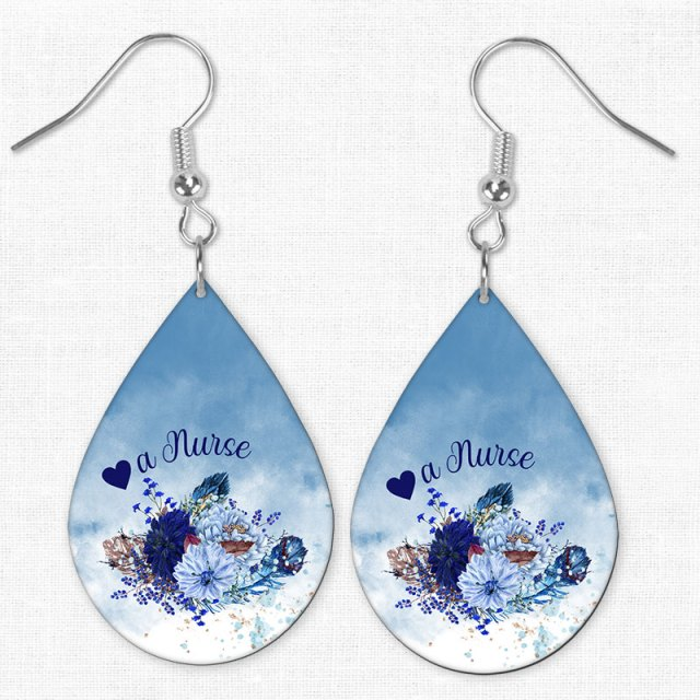 Love a nurse Lg Teardrop Earrings