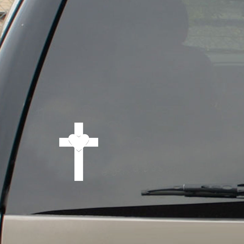 Heart on Cross on Auto Window