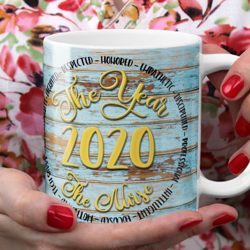 Year of Nurse Mug Front with Hand