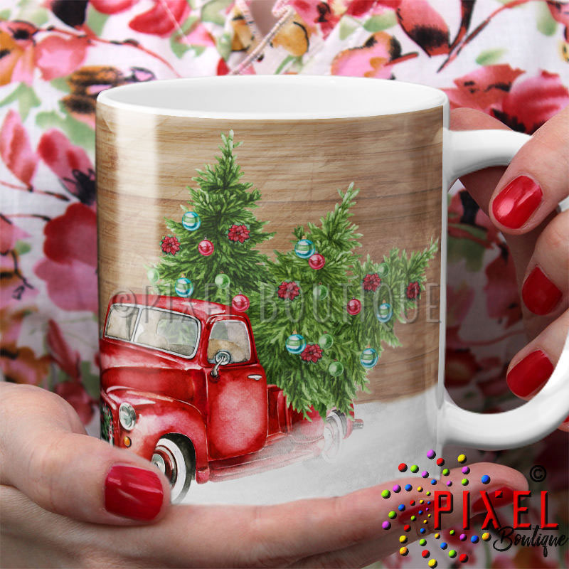 Red-truck-with-hand-holding-mug