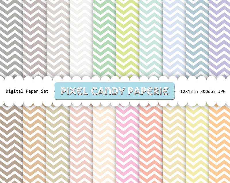 image relating to Chevron Printable Paper called Absolutely free Pastel Chevron Printable Electronic Papers Pack Pixel
