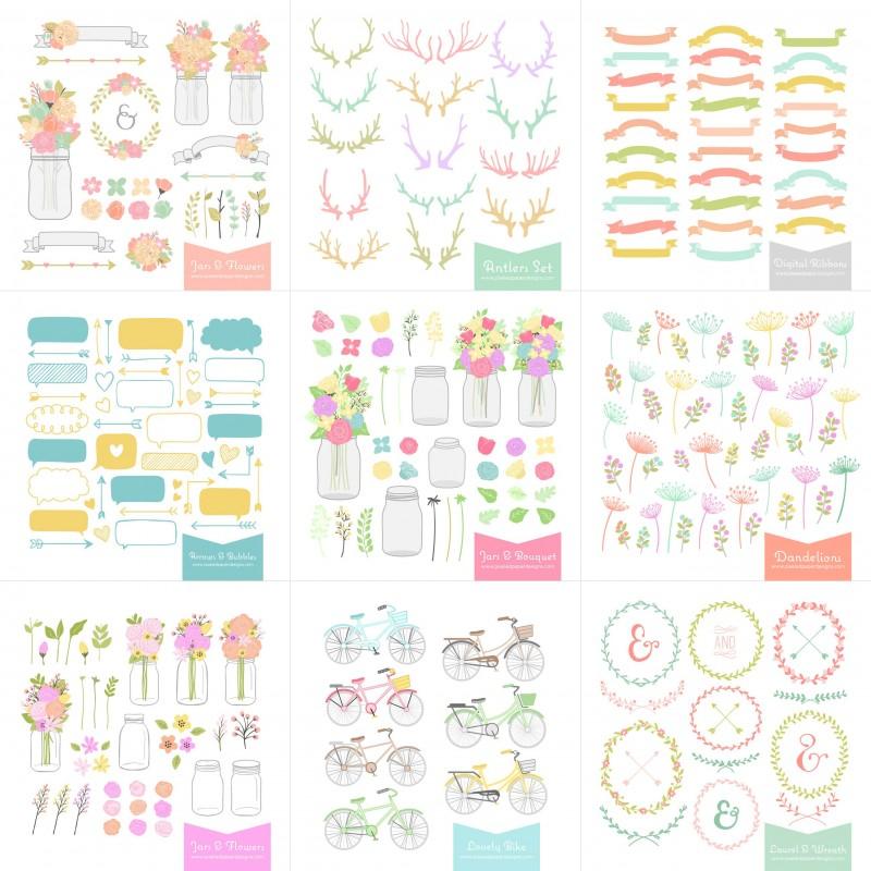 digital-clip-art-bundle-wedding-laurel-wreath-o-800x800