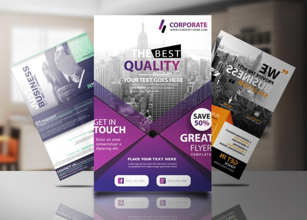 High Quality Professional Flyer Poster Brochure Design