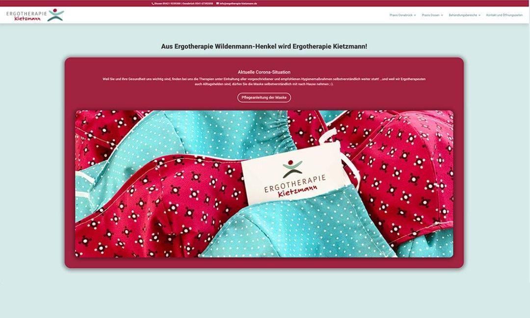 Webseite ergotherapie Kietzmann