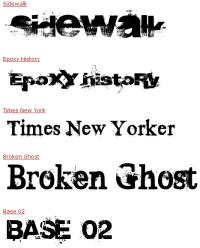 Muestra - fuentes tipográficas estilo grunge
