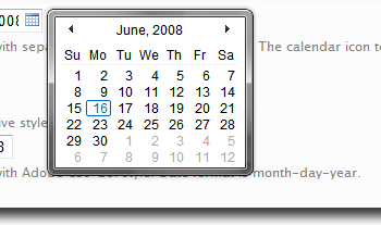 Vista Like Ajax Calendar - Demo|Captura de pantalla