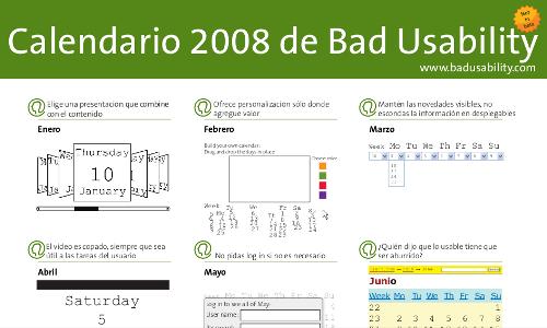 Bad Usability Calendar 2009 - Captura
