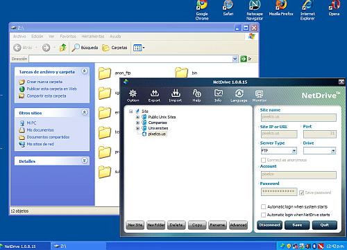 NetDrive - Interfaz