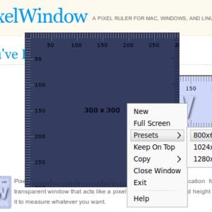 PixelWindow - Interfaz