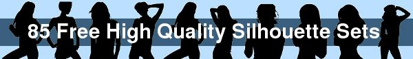 85-Free-High-Quality-Silhouette-Sets