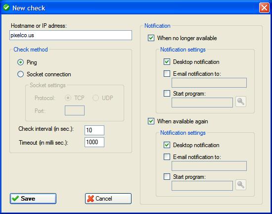 Check Host - Configuración
