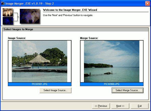 Image Merger - interfaz
