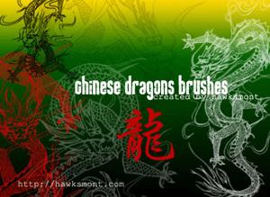 chinese-dragons-brushes