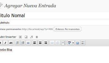 SubHheading - Wordpress-plugin | Interfaz