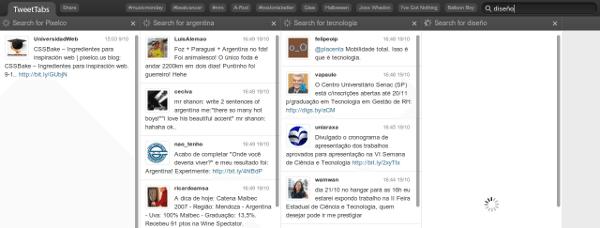 TweetTabs - Interfaz