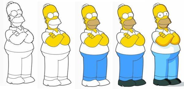 1 Homero Simpson Photoshop guia