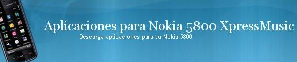 1 aplicaciones Nokia 5800 XpressMusic