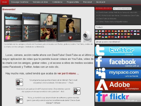 2 DeskTube YouTube Facebook Twitter