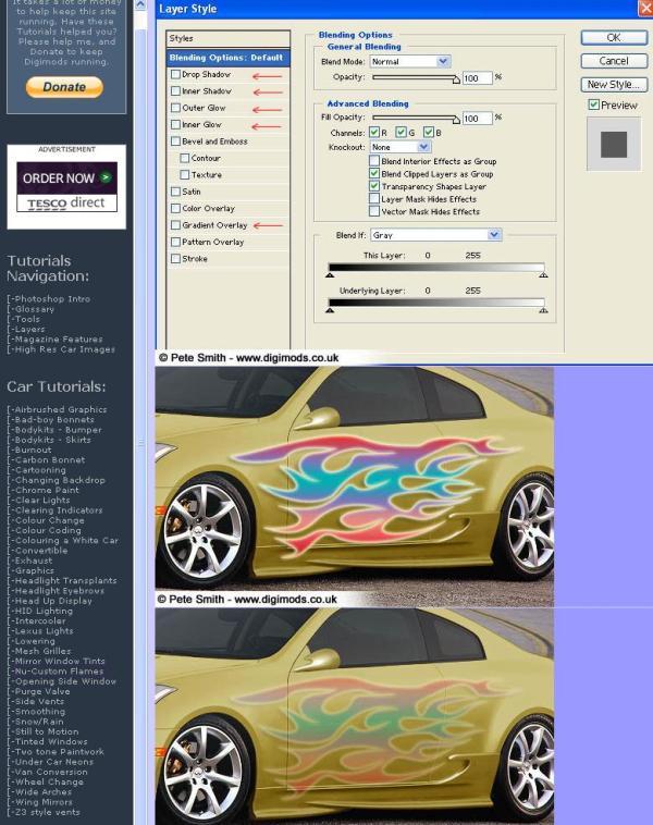 2 tunear autos en Photoshop