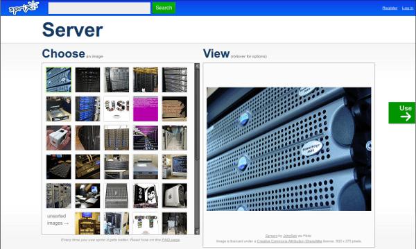 Sprixi - Interfaz   Captura de pantalla