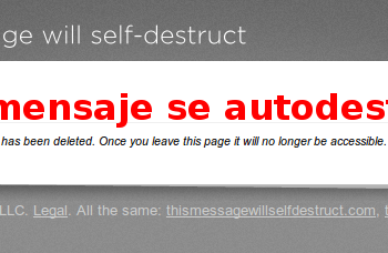Messajes self destruct