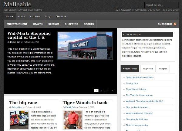 Malleable Theme WordPress