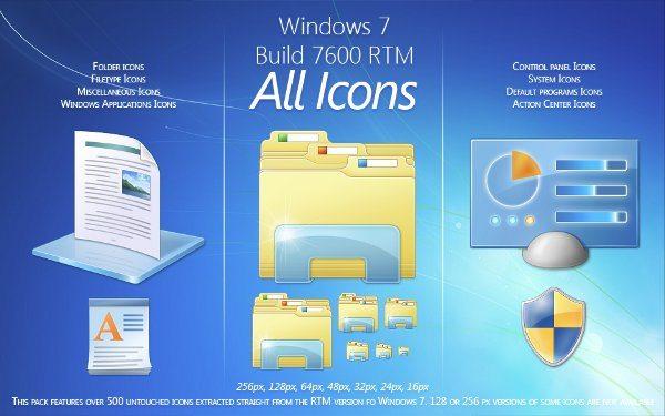 Windows 7 All Icons
