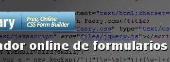 Faary - Generador online de formularios HTML