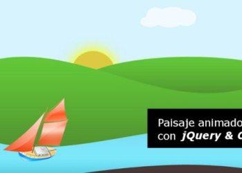 Paisaje animado con jQuery y CSS