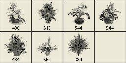 Plantas - Brushes Photoshop